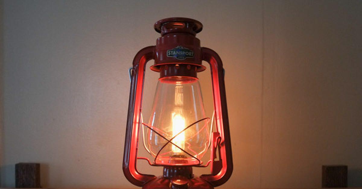 Светильник из керосиновой лампы своими руками