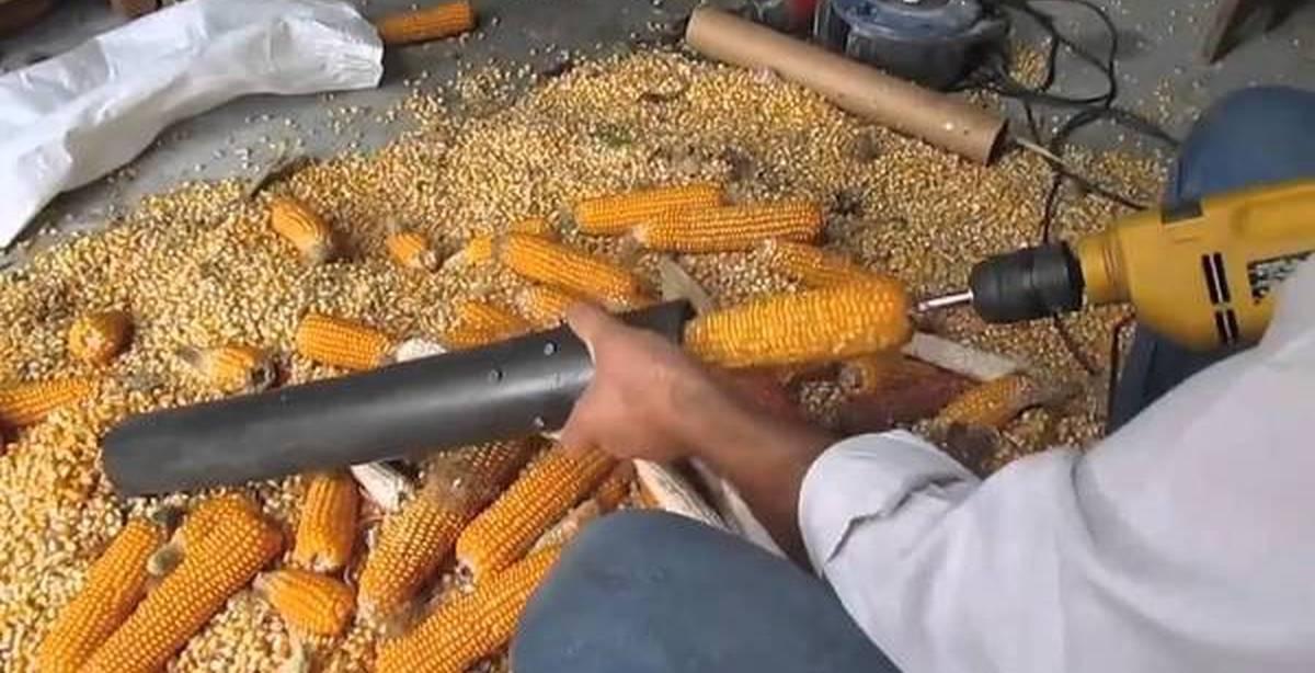 Как быстро очистить кукурузу от зерен в домашних условиях