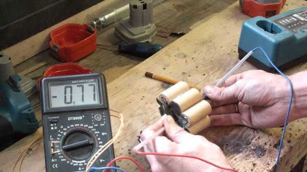 Ремонт аккумулятора на шуруповерте своими руками